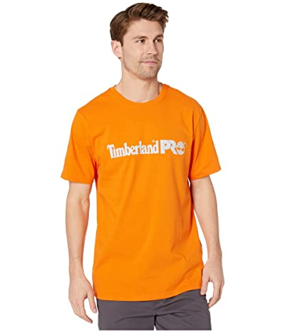 Timberland PRO Base Plate Short Sleeve T-Shirt with Logo (Pro Orange) Men