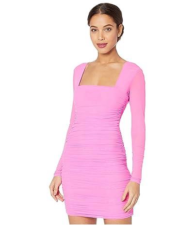 Bardot Tasha Mesh Dress (Pink Shock) Women