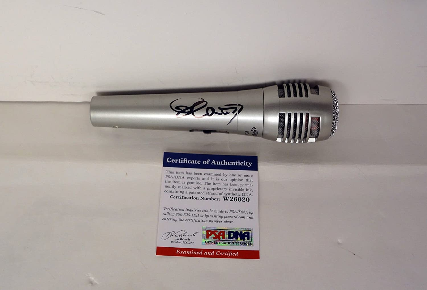 Placido Domingo The Three Tenors Microphone Signed Autograph Max 68% OFF Same day shipping PSA