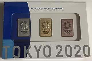 ピンバッジ3個セット(東京2020オリンピックエンブレム)(ゴールド/シルバー/ブロンズ)