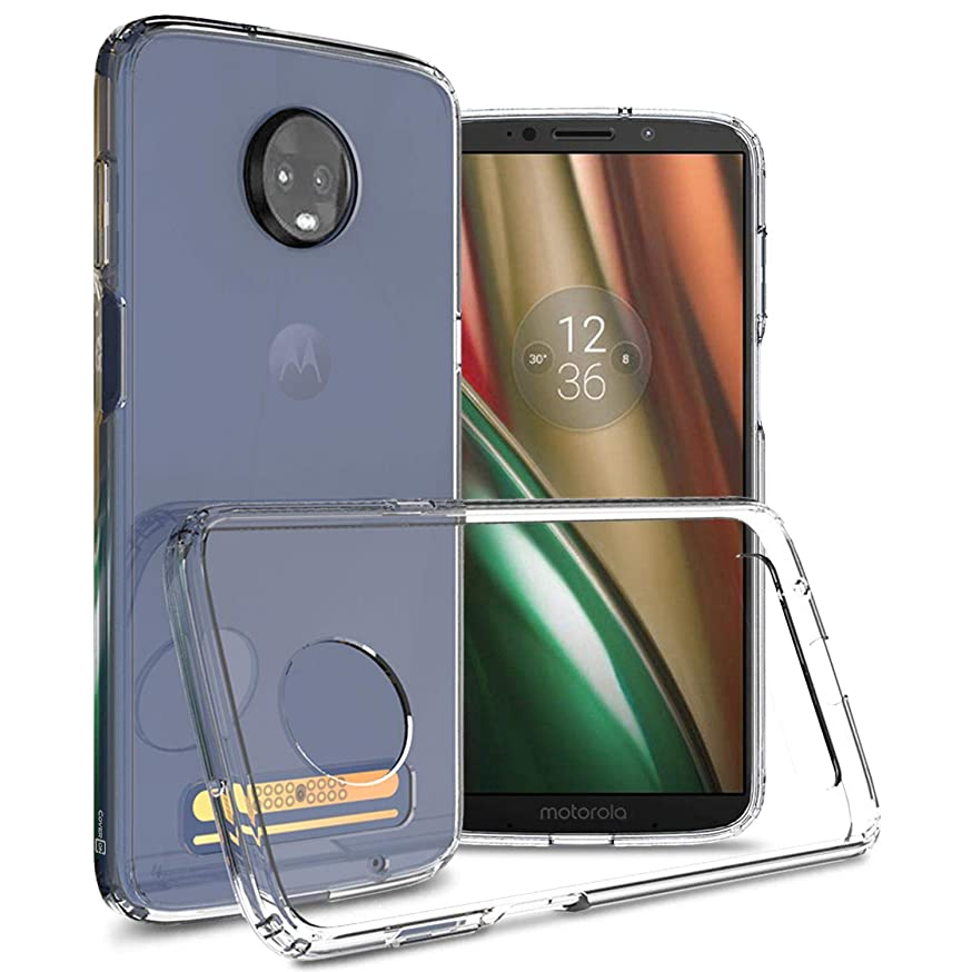 Moto Z3 Clear Case, Moto Z3 Play Clear Case, CoverON ClearGuard Series Protective Slim Fit Hard Phone Cover with TPU Shock Absorbing Bumpers - Clear