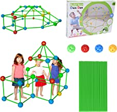 140 Pcs Construction Building Toys, Fort Building Kit for Kids, Building Toys Play Tent Indoor and Outdoor Playhouse for K...