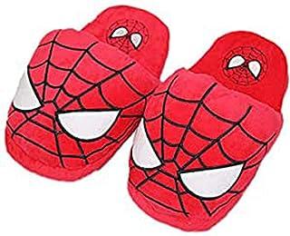 WEIR Niños Zapatillas de Invierno Niños Dibujos Animados Superhéroe Invierno Cálido Felpa Zapatos de Interior,Spiderman-3...