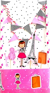Paris Girl Cake Dancer Topper Decoration Kit | Superior Quality |Sturdy | Attractive | Fascinating | Eco- Friendly | Biodegradable | Beautiful Illustrations | Fine Details | Show Stopper