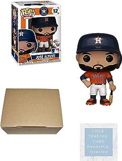 Funko José Altuve Houston Astros Pop! Figure Bundle with 1 MLB Trading Card & 1 Cardboard Protector Box (Orange Jersey Uniform)