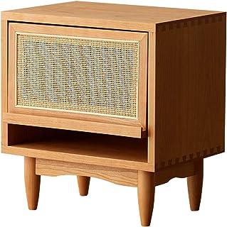 Armoire de chevet en rotin en bois massif armoire de rangement simple, armoire de chevet simple, table basse de salon, tab...
