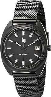 [リップ] Lip 腕時計 Unisex GDG Automatic Analog Display Japanese Automatic Black Watch 日本製自動巻 1872882 [バンド調節工具&高級セーム革セット]【並行輸入品】