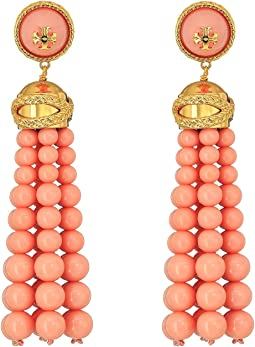 Tory Burch - Beaded Tassel Earrings