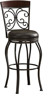 American Heritage Billiards Amelia Bar Height Stool, Gray