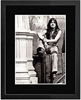 Stick It On Your Wall ACDC - Malcom Young - Black & White Framed Mini Poster - 44x33cm