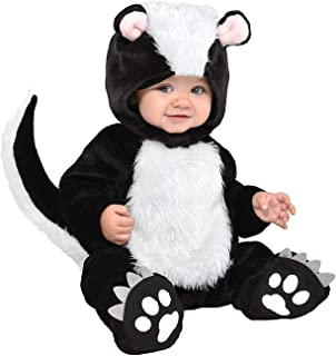 Little Stinker Skunk Costume for Babies, Size 6-12 Months, Includes a Soft Jumpsuit, a Hood, and Booties