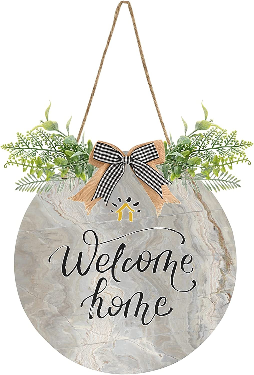 xigua New Free Shipping NEW Marble Welcome Sign Farmhouse Hangi Porch Door Decor Front