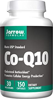 Jarrow Formulas Co-Q10 30 mg, Promotes Cellular Energy Production, 30 mg, 150 Caps