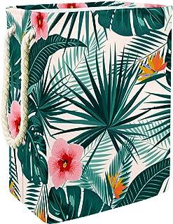 Vockgeng Palmier Feuilles Florales Tropicales Accueil Organisation Panier de Rangement imperméable Pliable de Jouets de Jo...