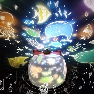 「令和アップグレード版」スタープロジェクターライト 星空ライト 音楽再生 6種類投影映画フィルム バレンタインデー ギフト 寝かしつけ用おもちゃ スターナイトライト SYOSIN 360度回転ライト 海プロジェクター プラネタリウム クリスマス...