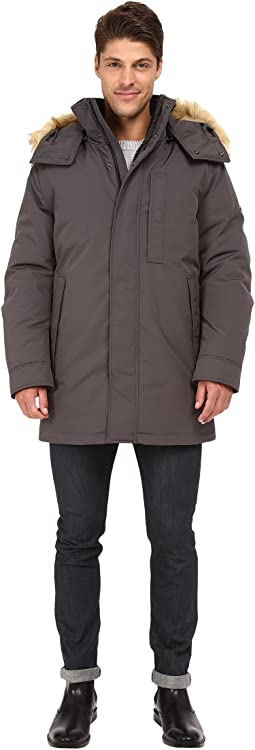 Niagra Down Filled Oxford Twill Parka w/ Faux Fur Trimmed Removable Hood