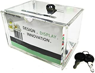 Clear Acrylic Charity Donation Fundraising Box with Lock for Church,Non-profitable Groups