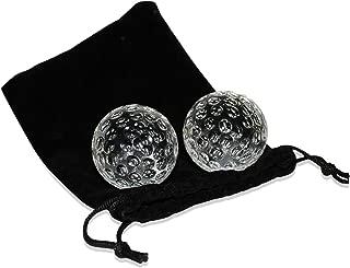 Golf Ball Shaped Whiskey Chillers & Storage Bag | Golf Gift Set | Glass Whiskey Stones for Chilling Vodka, Whiskey & Scotch | By Gemsho Glass
