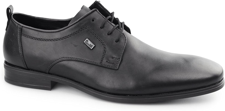Rieker 10620-00 TEX Mens Leather Derby shoes Black