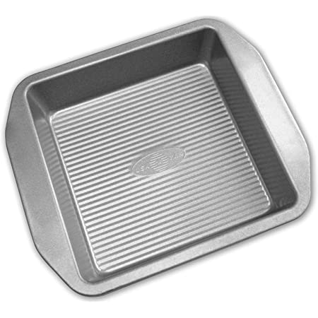Amazon Com Usa Pan American Bakeware Classics 8 Inch Square Cake And Brownie Pan Aluminized Steel Kitchen Dining