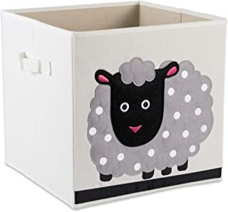 E-Living Store Collapsible Storage Bin Cube for Bedroom, Nursery, Playroom and More 13x13x13 - Sheep