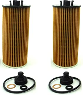 2 Pack Oil Filter for Fits 2014-17 BMW i8, 2016-18 X1, 2018 X2, 2014-18 Mini Cooper, 2016-18 Cooper Clubman, 2017-18 Cooper Countryman 11 42 8 570 590 11428570590