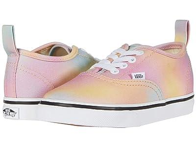 Vans Kids Authentic Elastic Lace (Infant/Toddler) ((Aura Shift) Multi/True White) Girls Shoes