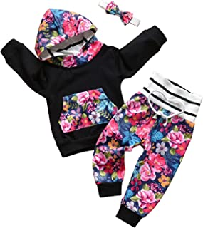 Infant Toddler Baby Girl Floral Clothes Long Sleeve...