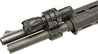Elzetta ZSM-T Flashlight Mount for Tactical Shotgun, Remington 870, Mossberg 500, Quick Release Thumbscrew Model