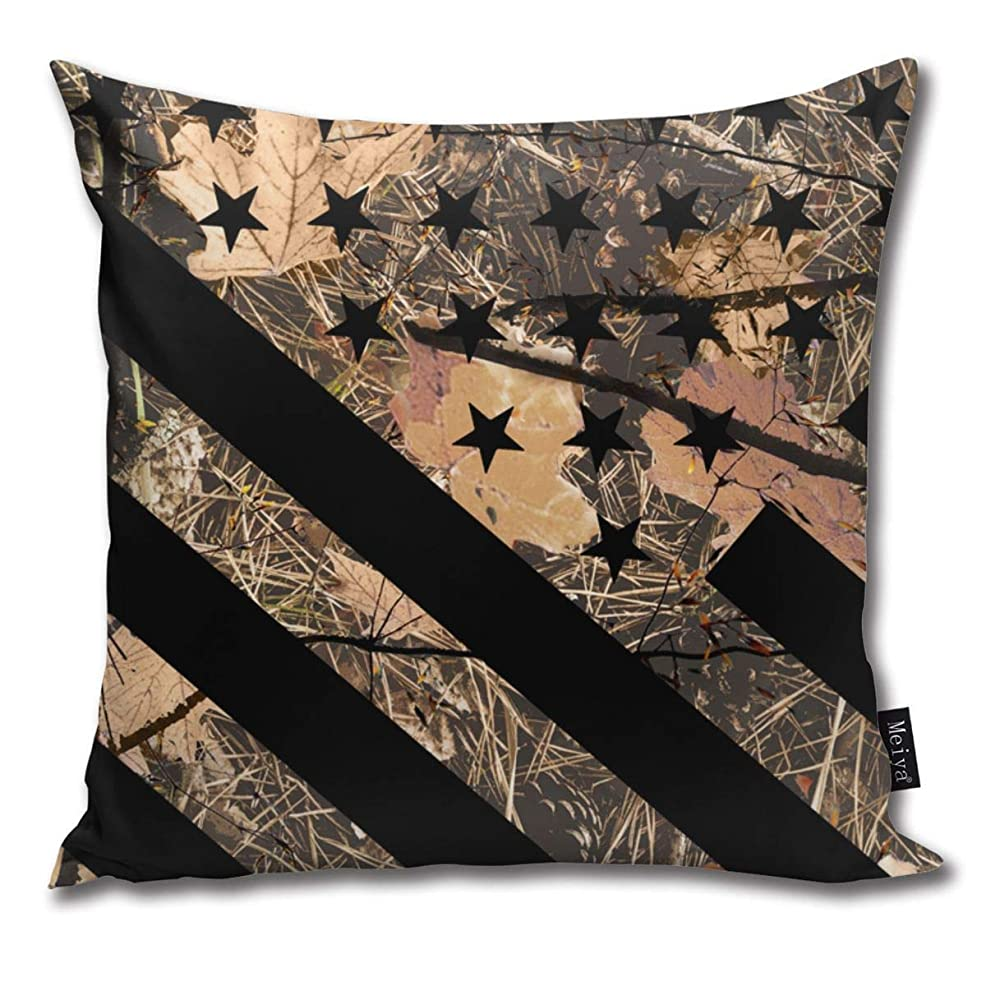 サーバントいつ撃退する枕カバー狩猟迷彩旗の装飾枕カバーはソファとソファ用クッションカバーを投げる45x45 cm