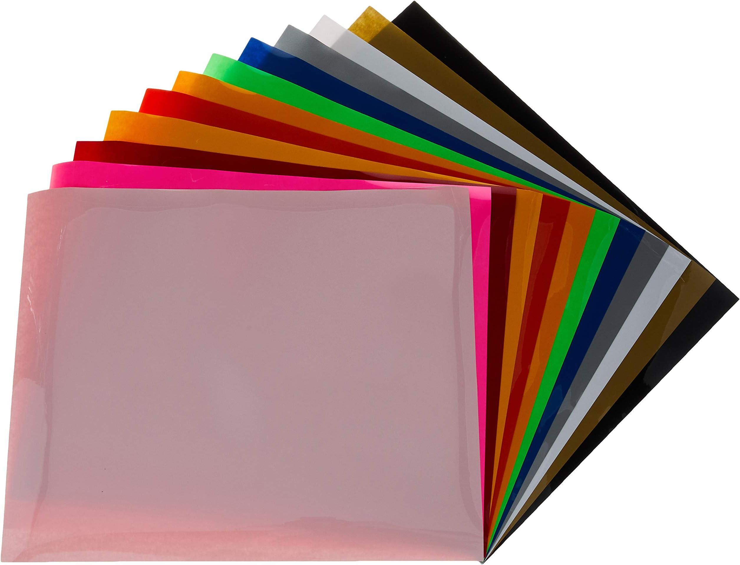 Heat Transfer Vinyl Rainbow Vinyl 15x12 Color Pack Siser Easyweed 6 Sheets HTV Iron On Vinyl Rainbow Color Pack