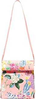 Ban.do What's For Lunch? Women's Crossbody Insulated Lunch Bag Tote with Removable Strap, Garden Party
