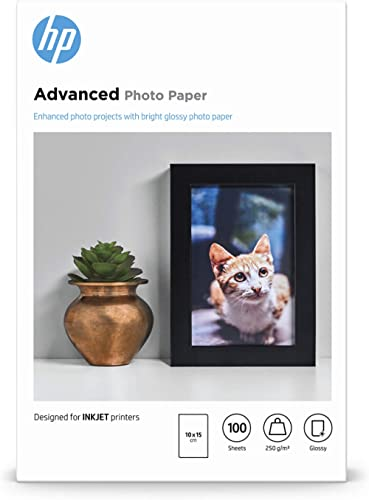 Papier photo HP Advanced, brillant, 250 g/m2, 10 x 15 cm, 100 feuilles