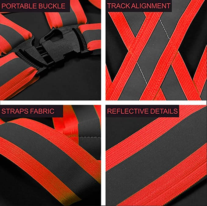Good Polyester Braces Reflective Strap Supplies Walking 1pc Outdoor Driving HO3