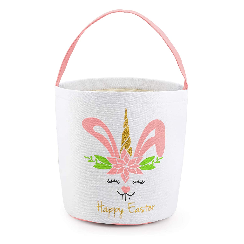 Easter Basket for Kids Bunny Decorations Bag New color Canva store