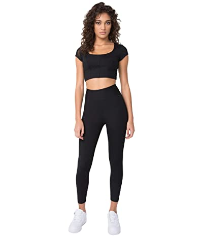 YEAR OF OURS The Marilyn Ribbed Crop (Black) Women