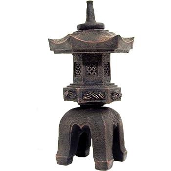 Bellaa 24429 Pagoda Stupa Garden Lantern Toro Japanese Style Asian Decor Outdoor Statue 17 inch