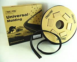 Flexline Windshield Auto Glass Universal Molding Flexible Trim Rubber 24mm 15FT UM2513BR