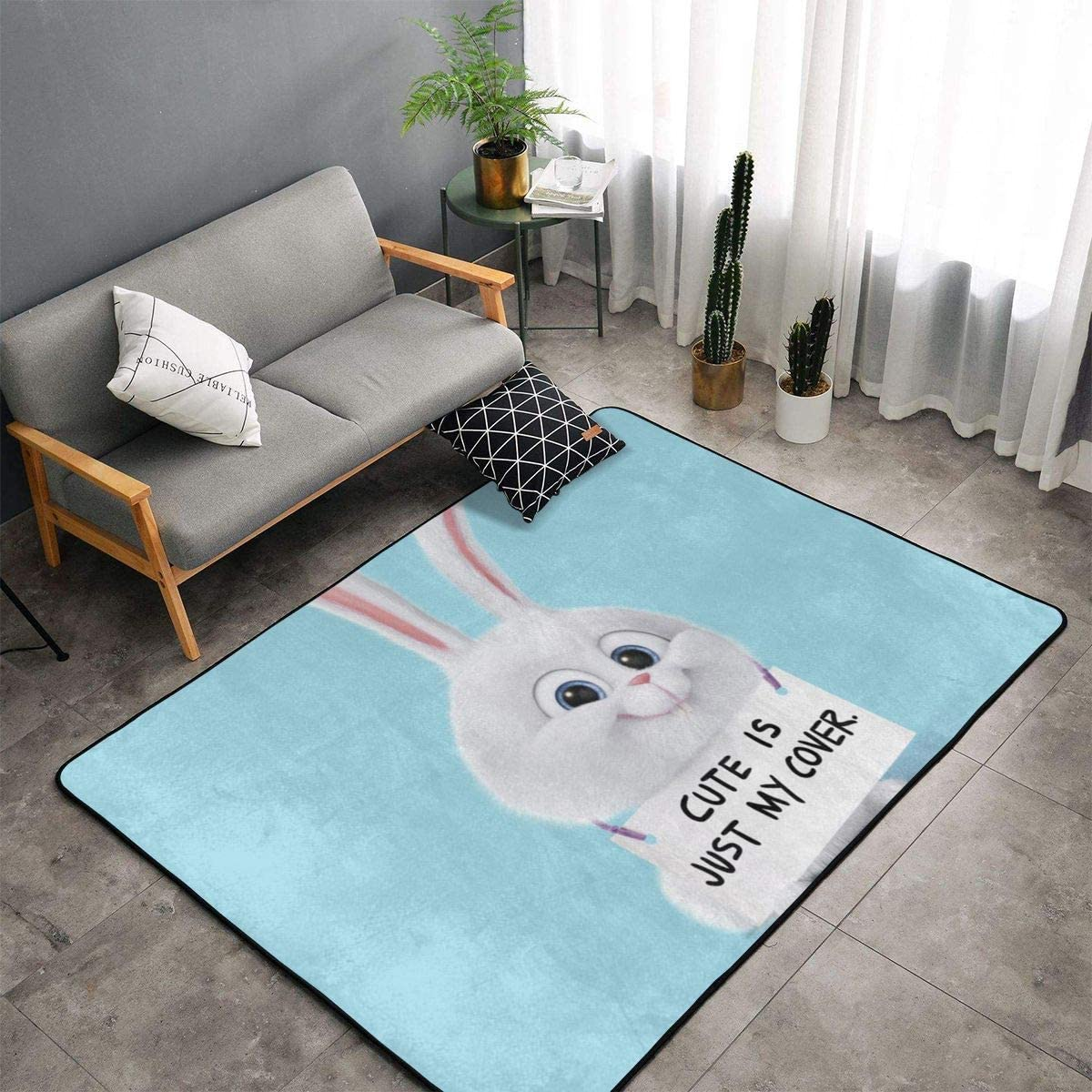 Snowball The Secret Life of Pets Free shipping on posting reviews Carpet Mat Camping Area New product! New type Bedroom