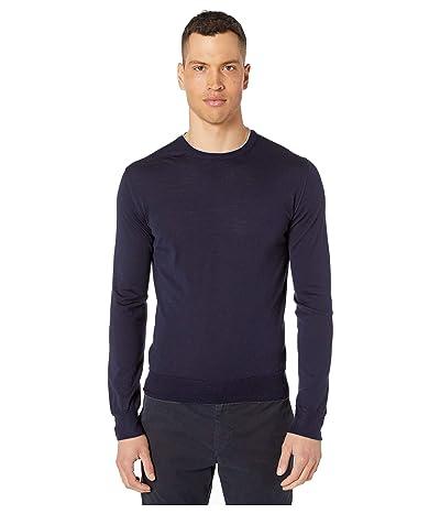 eleventy Fine Gauge Crew Neck Sweater (Navy) Men
