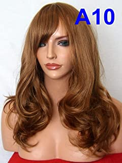 WIG FASHION Long Loose Curls Natural Party Heat Resistant Synthetic Hair Wig AUBURN GINGER MIX Full Head Wig A10