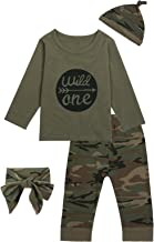 Baby Boys Girls Wild One Birthday Outfit 1st Birthday Camouflage Pants Set