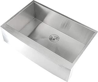 On Sale Aquarius Undermount ApronFront Farmhouse Stainless Steel Kitchen Sink