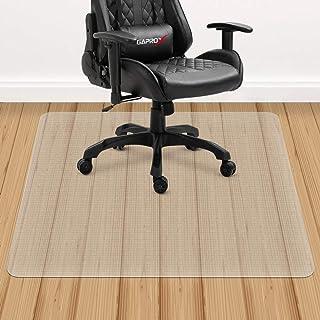 YINN - Alfombrilla para silla (PVC, resistente al agua, resistente al agua, para suelos de madera dura y alfombra de pelo bajo, para rueda de silla