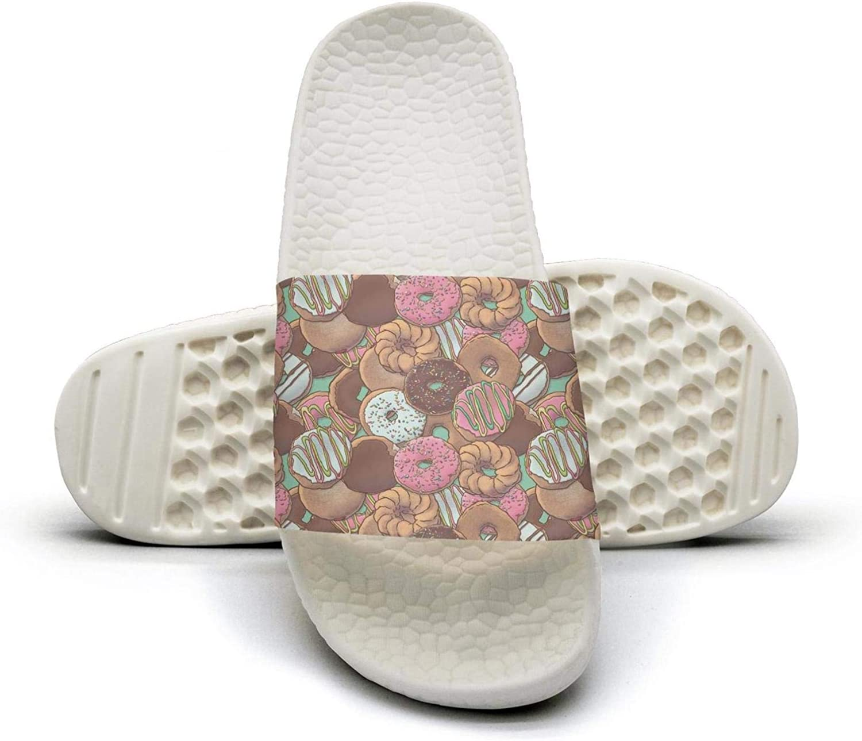 Women's Donut Repeat Slip on Beach Sandals and Anti-Slip Shower Slipper Comfort Sandals