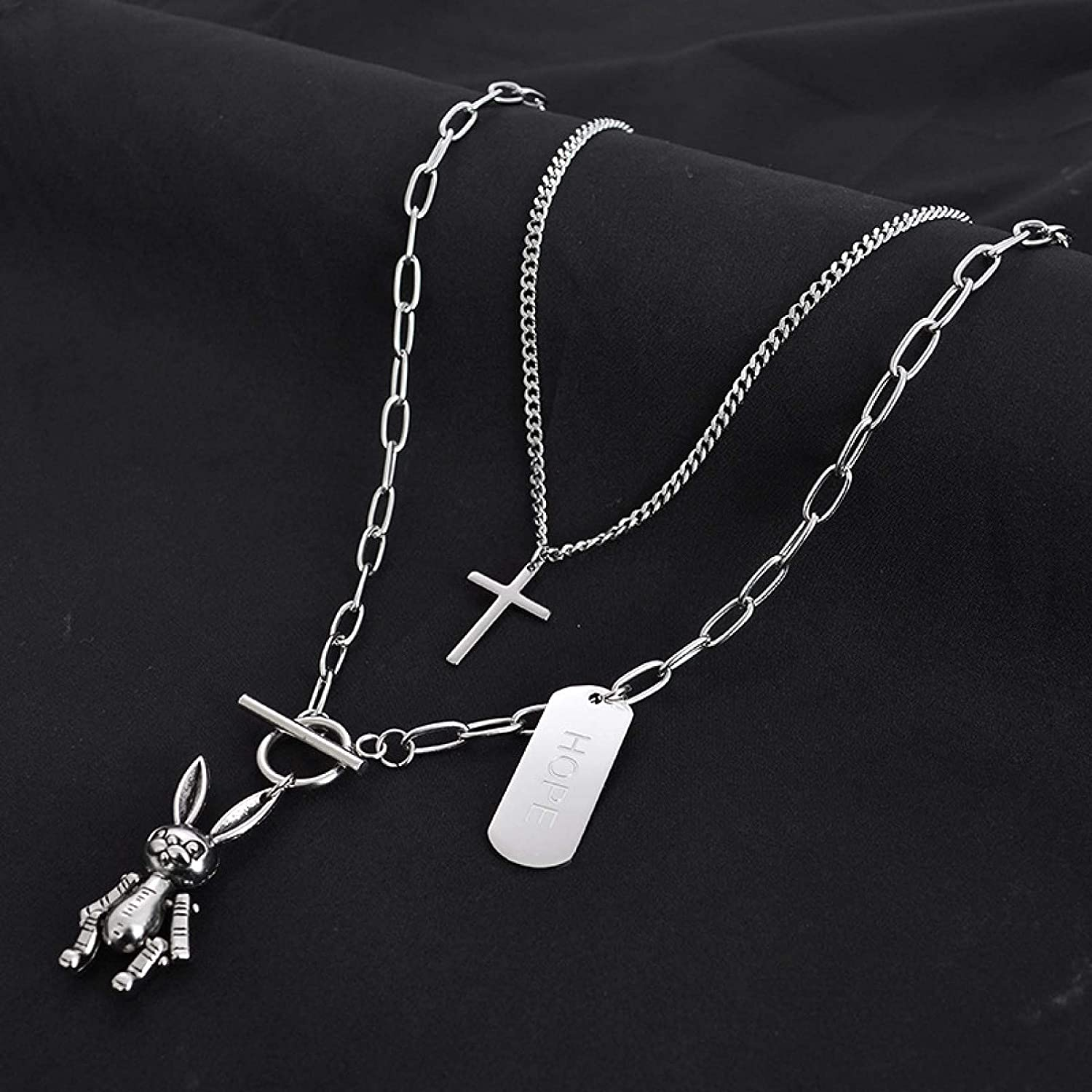 Ranking TOP6 Necklace sold out Pendant Jewellery New Titanium Chain Steel Sweater Rabb