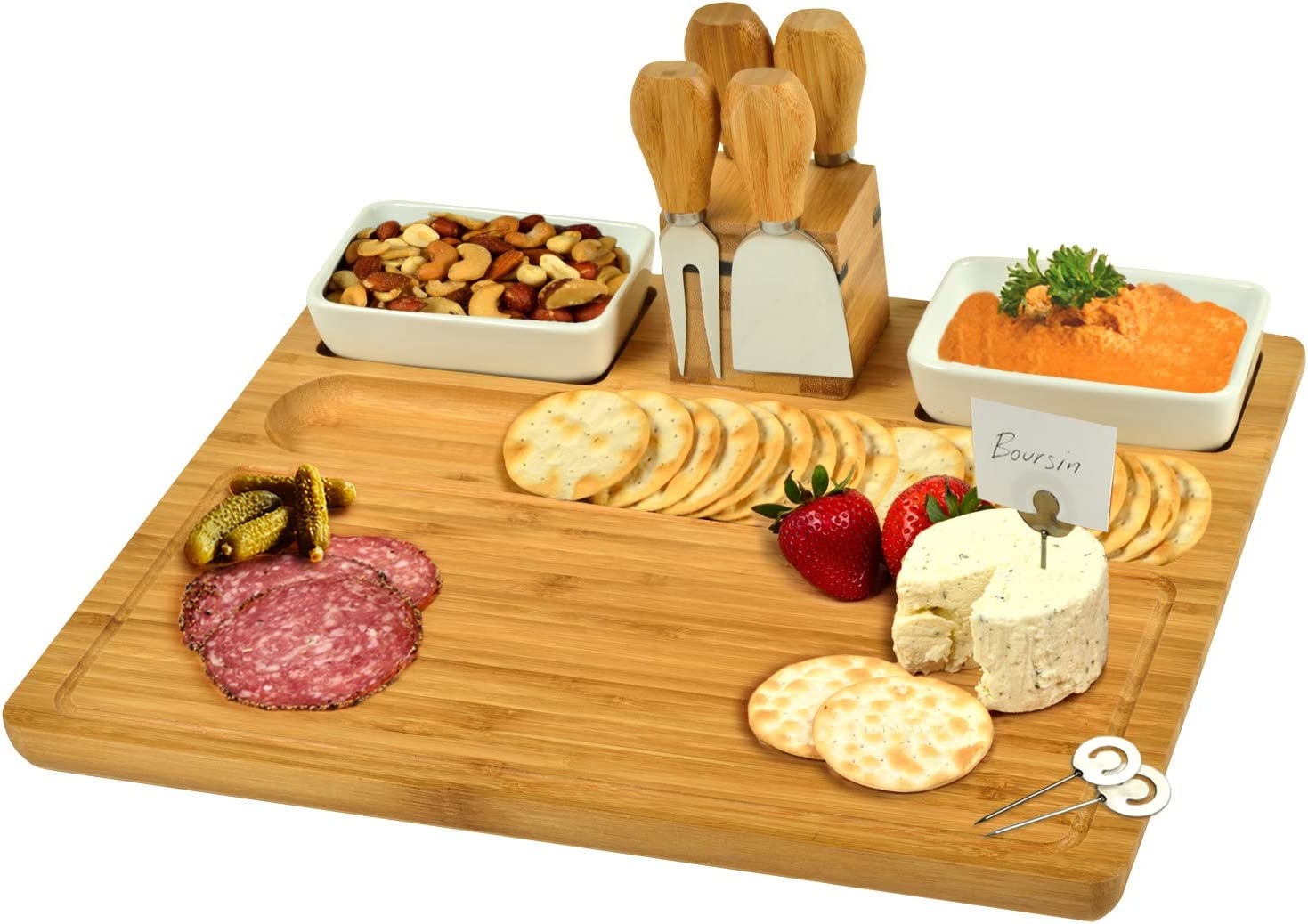 Selling and selling Excellence Picnic at Ascot Large Bamboo wi Charcuterie Cheese Platter Board