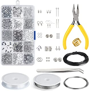 Kuuqa Bijoux Faisant Kit Résultats de Bijoux Starter Kit Bijoux Perles Fabrication et Réparation Outils Kit