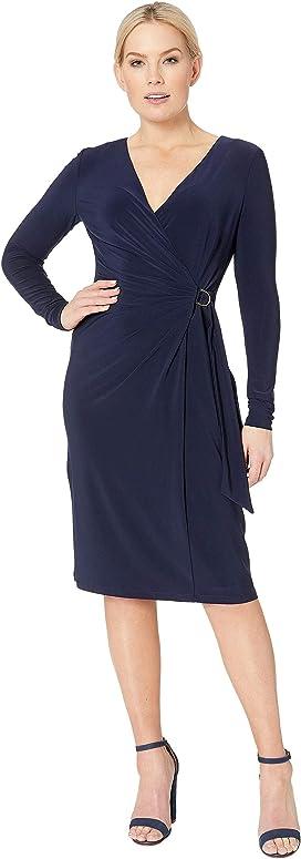 f0c5f4cc7d3 LAUREN Ralph Lauren 4R Matte Jersey Joni Long Sleeve Day Dress at ...