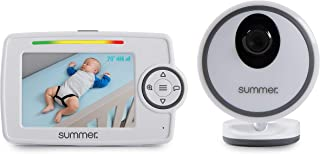 Summer Glimpse Plus Video Baby Monitor with 3.5-inch Color LCD Video Display – Baby Video Monitor with Remote Digital Zoom, Two-Way Talkback and Voice-Activated Screen Wake Up